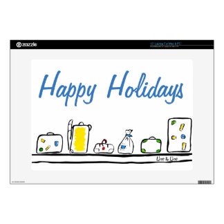 Happy Holidays Laptop Decals