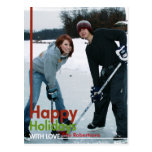 Happy Holidays Large Photo Card Postcard