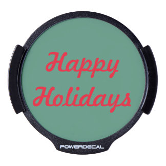 Happy Holidays LED for your Car LED Window Decal