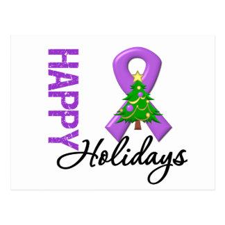 Happy Holidays Leiomyosarcoma Cancer Awareness Postcard