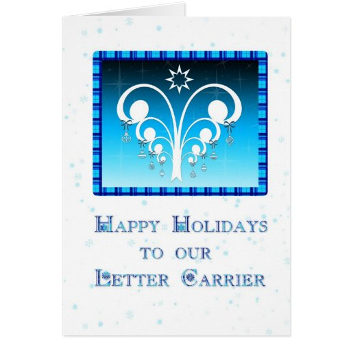 Happy Holidays Letter Carrier Card