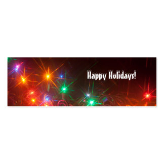 Happy Holidays Lights Bookmark Double-Sided Mini Business Cards (Pack Of 20)