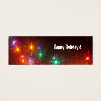 Happy Holidays Lights Bookmark Mini Business Card