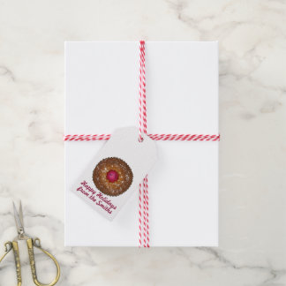 Happy Holidays Linzer Torte Christmas Cookie Tags Pack Of Gift Tags