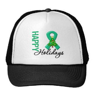 Happy Holidays Liver Cancer Awareness Trucker Hat