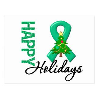Happy Holidays Liver Cancer Awareness Postcard