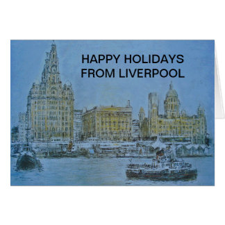 Happy Holidays Liverpool Cards by Colin Carr-Nall
