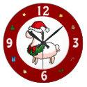 Happy Holidays Llama Clock