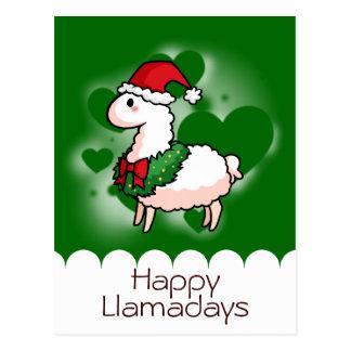 Happy Holidays Llama Postcard