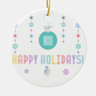 Happy Holidays LLR Lularoe inspired 2 Ceramic Ornament
