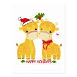 Happy Holidays Love Giraffes Post Cards