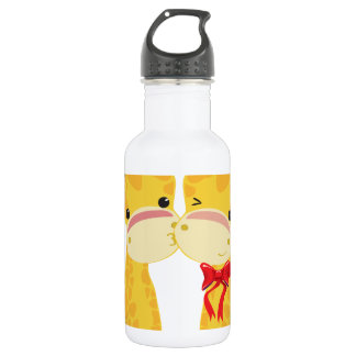 Happy Holidays Love Giraffes Water Bottle