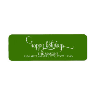 Happy Holidays Lowercase Script | Green Label