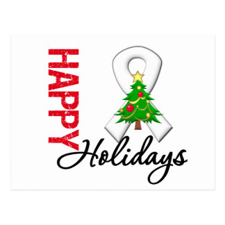 Happy Holidays Lung Cancer Awareness Postcard
