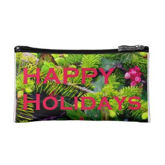 Happy Holidays Makeup Bag