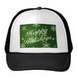 Happy Holidays Matching Items - Green Mesh Hat