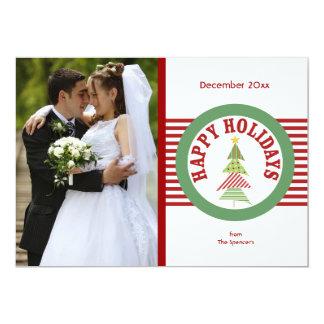 Happy Holidays Medallion Photo Holiday Card