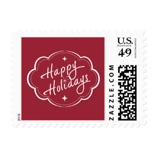 Happy Holidays - Merry Christmas Postage