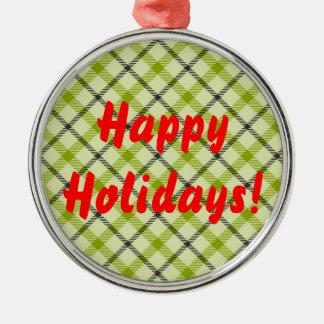 Happy Holidays Metal Ornament