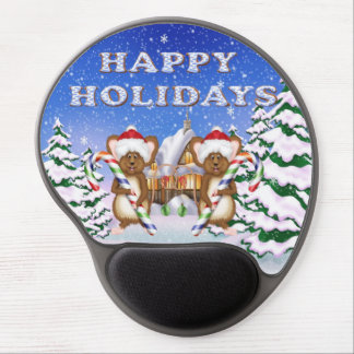 Happy Holiday's Mice Gel Mouse pad