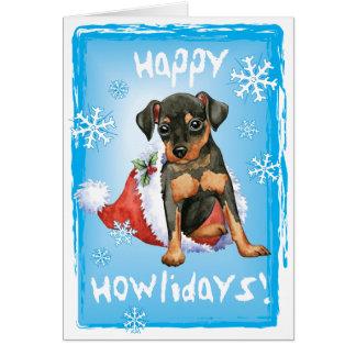 Happy Holidays Min Pin Card
