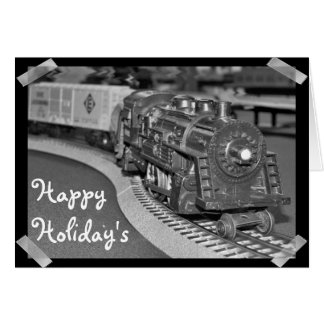 Happy Holiday's Model Train Card