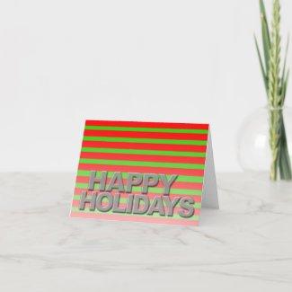 Happy Holidays Modern Card 3D Fonts card