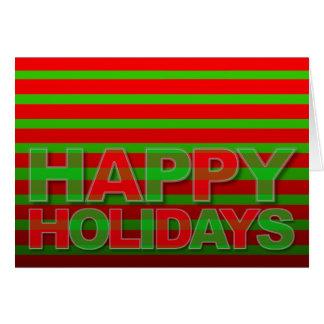 Happy Holidays Modern Card Neon Camaflage