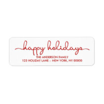 Happy Holidays Modern Hand Lettered Script Label