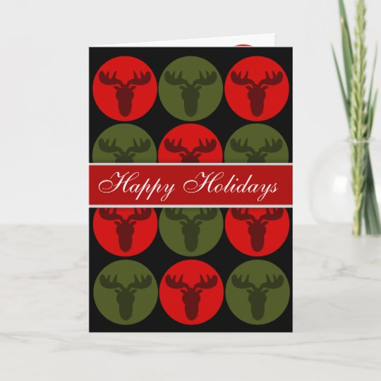 happy holidays moose silhouette christmas cards