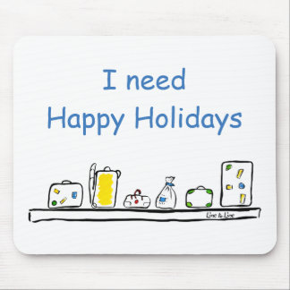 Happy Holidays Mouse Pad