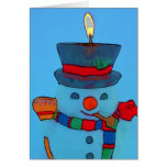 Happy Holidays Mr. Snowman Greeting Cards