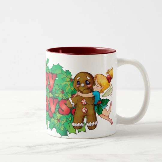 Happy Holidays Mug! Two-Tone Coffee Mug