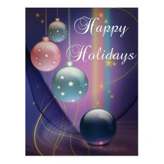 Happy Holidays Multi Bulbs Holiday Postcard