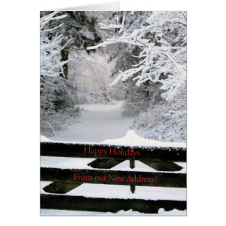 Happy Holidays - New Address Christmas Card