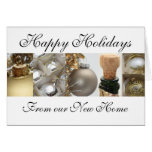 Happy Holidays - New Address Christmas Card