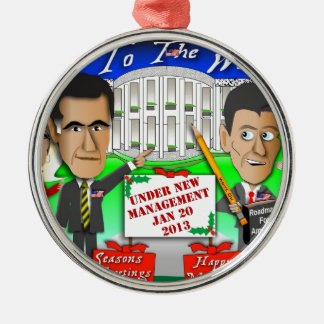 Happy Holidays New Management Round Metal Christmas Ornament