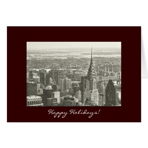 Happy Holidays - New York City in the Snow Greeting Card