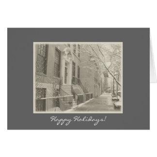 Happy Holidays - New York City Winter Snow Card