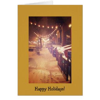 Happy Holidays - New York Winter Card