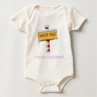 Happy Holidays North Pole Baby Bodysuit