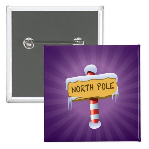 Happy Holidays North Pole Buttons