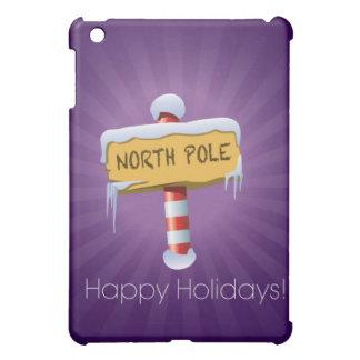 Happy Holidays North Pole iPad Mini Covers
