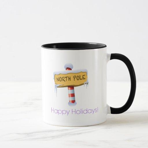 Happy Holidays North Pole Mug