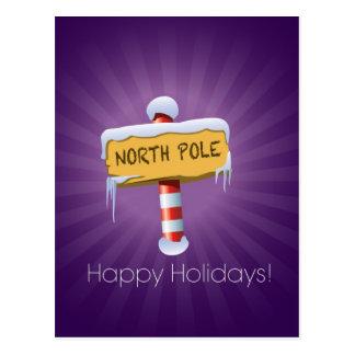Happy Holidays North Pole Postcard