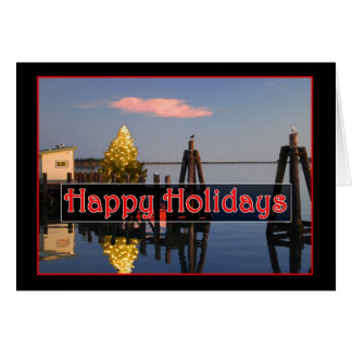 Happy Holidays on the Bay Greeting Card