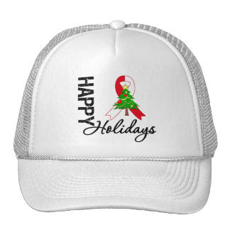 Happy Holidays Oral Cancer Awareness Trucker Hat