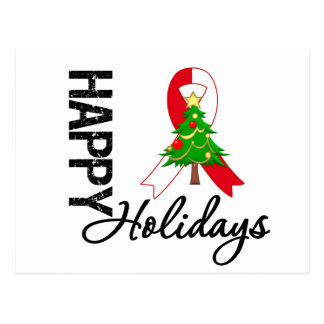 Happy Holidays Oral Cancer Awareness Postcard