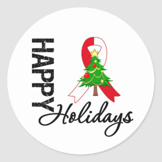 Happy Holidays Oral Cancer Awareness Stickers