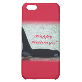 Happy Holidays: Orca Whale Happy Holidays San Juan Cover For iPhone 5C